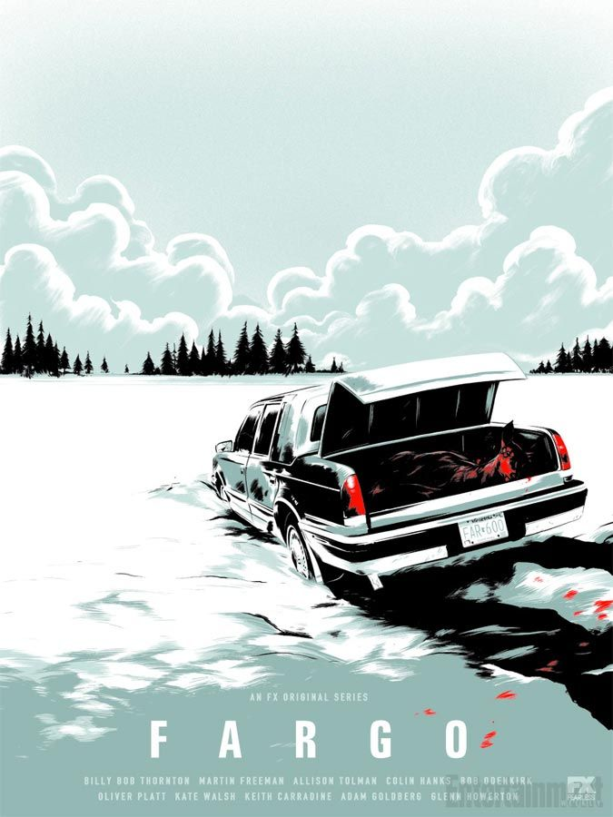 "FX""Fargo""(2014-) Crime Drama/Dark Comedy Created:Noah Hawley Based:Fargo by Joel/Ethan Coen Starring	:Billy Bob Thornton/Allison Tolman Colin Hanks/Martin Freeman  Fargo is an American dark comedy-crime drama. January 2006,Lorne Malvo passes through Bemidji,Minnesota influences put-upon insurance salesman Lester Nygaard with his maliceviolence.Meanwhile,Deputy Molly SolversonDuluth police officer Gus Grimly team up to solve a series of murders they believe may be linked to Malvo and Nygaard."