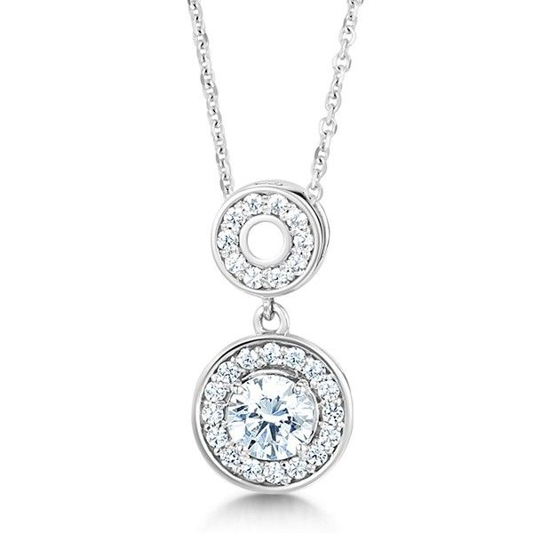 The 26 best jessica mccormack bridal jewellery images on pinterest the double halo diamond drop pendant lavished with a decadent display of pav set diamonds in a unique design aloadofball Image collections