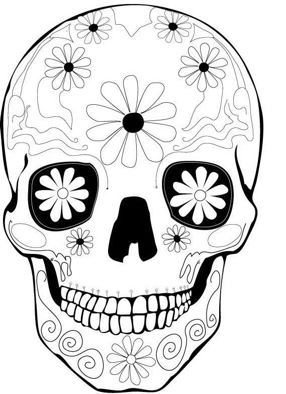 104 best day of the dead coloring images on pinterest | sugar ... - Sugar Candy Skulls Coloring Pages