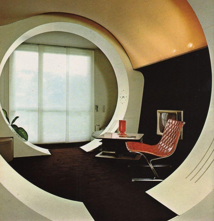 Franco Magnani Design Futuristic InteriorVintage