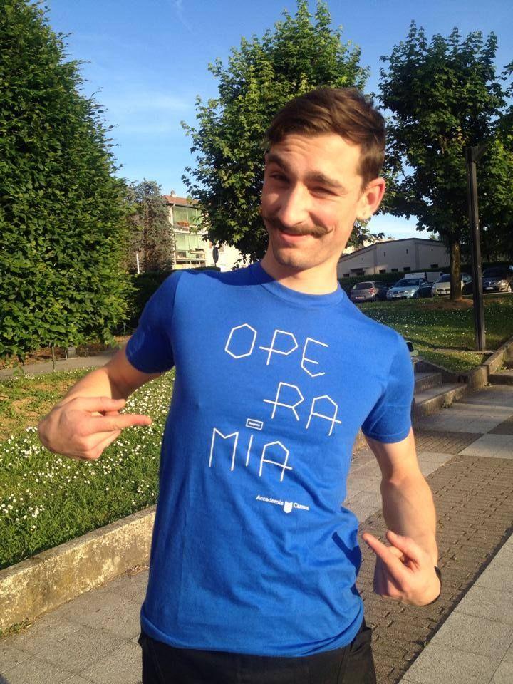 Ruggero, contributor with #operamia t-shirt crowdfunding projoct 2014