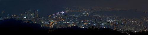 Busan as Seen From Jungsan Peak