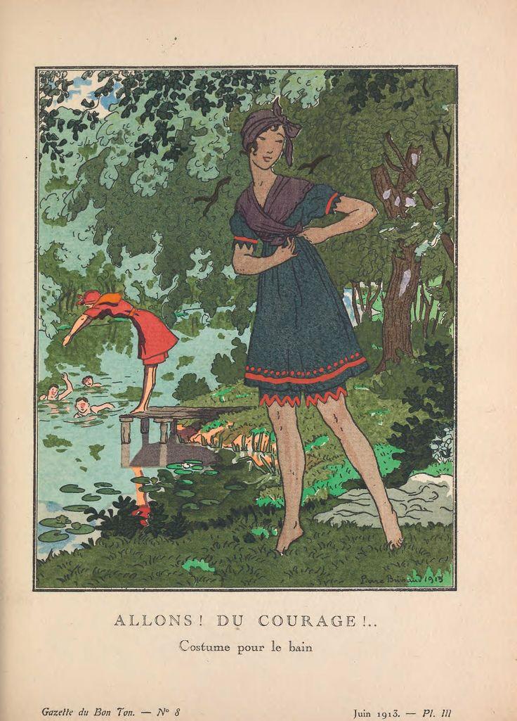 Fashion design illustration by Pierre Brissaud 1920