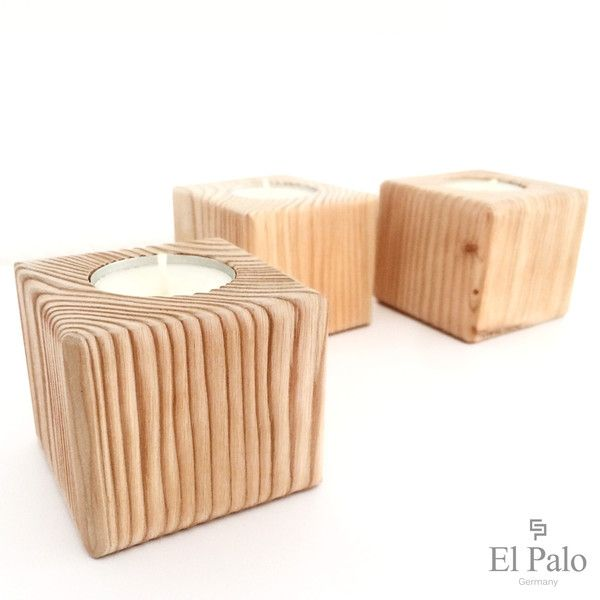 Kerzenständer+aus+Holz+-+Vela+von+El+Palo+-+Germany+auf+DaWanda.com