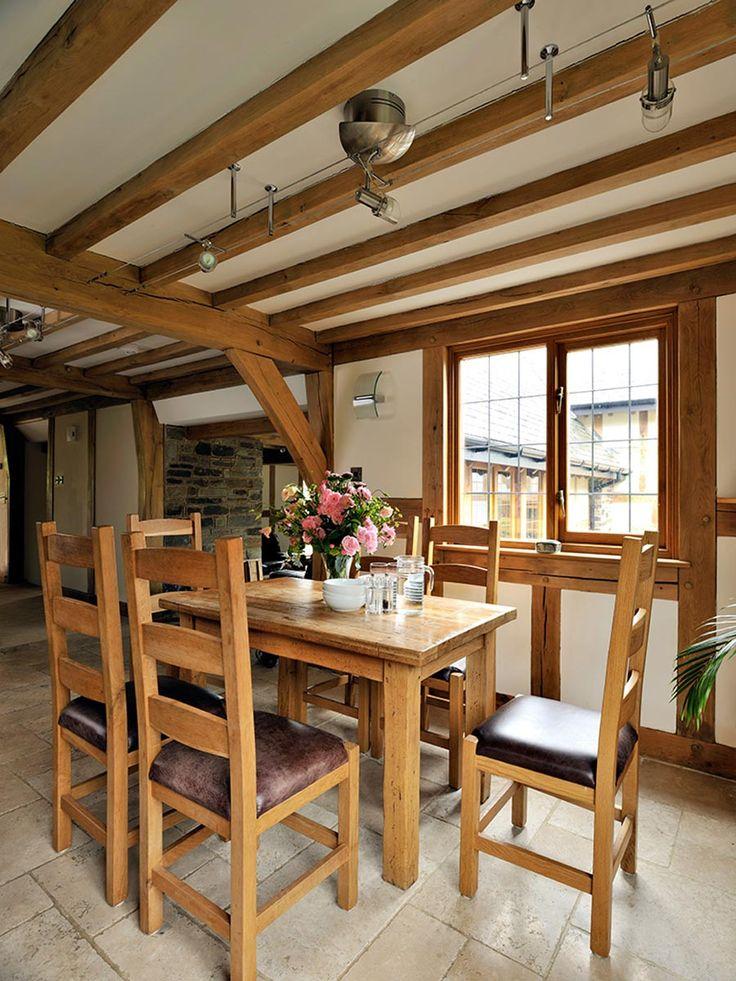 Dining room ideas from Welsh Oak Frame  #oakframe #diningrooms #diningroomideas #oakbeams
