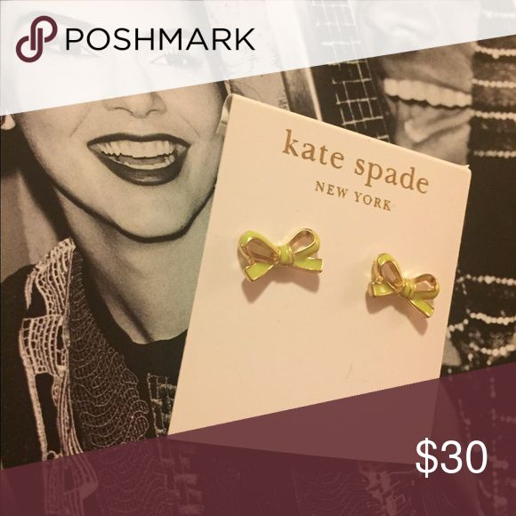 💛 Kate Spade yellow bow earrings 💛 Classic and simple kate spade Jewelry Earrings