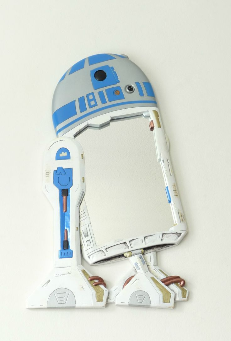 Starwars: This is how we made the R2D2 wall mirror..! It's ready for your bathroom. Scroll down to see the design, production and artwork of making the R2D2 wall mirror. Want one ? Click here to visit our shop:  https://www.etsy.com/shop/funkymirrors?ref=hdr