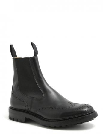 Tricker's-Henry Burnished black-Ankle boots-Polacchine nere-shopping online