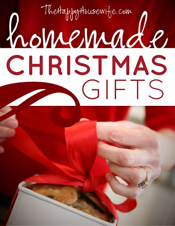 TONS of homemade Christmas gift tutorials