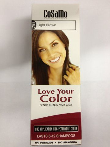 CoSaMo - Love Your Color Non-Permanent Hair Color 755 Light Brown - 3 oz. - http://essential-organic.com/cosamo-love-your-color-non-permanent-hair-color-755-light-brown-3-oz/