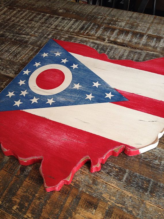 Ohio State Flag by CaliforniaRustic on Etsy