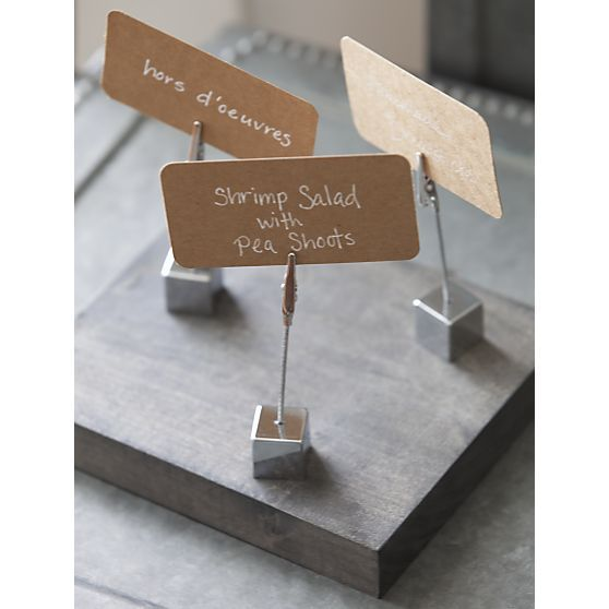 Table Name Holders