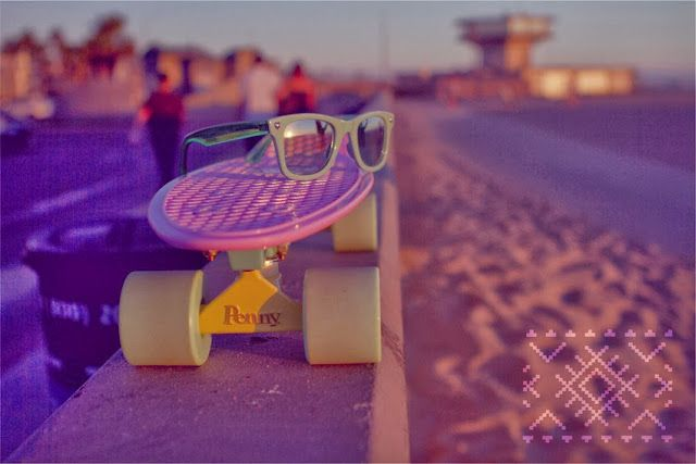 Los Angeles Venice Beach #skateboard #penny #pastel