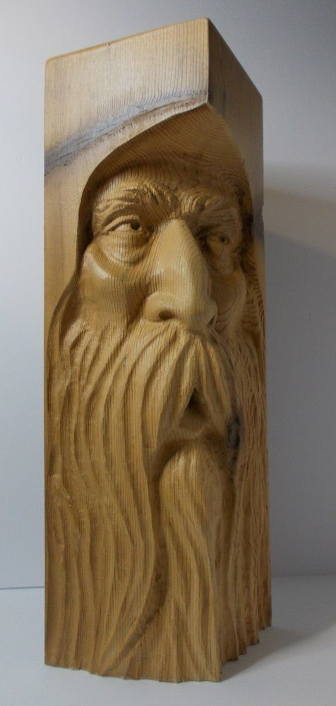 WOODSPIRIT carving work in progress #2.....by Greg Hand