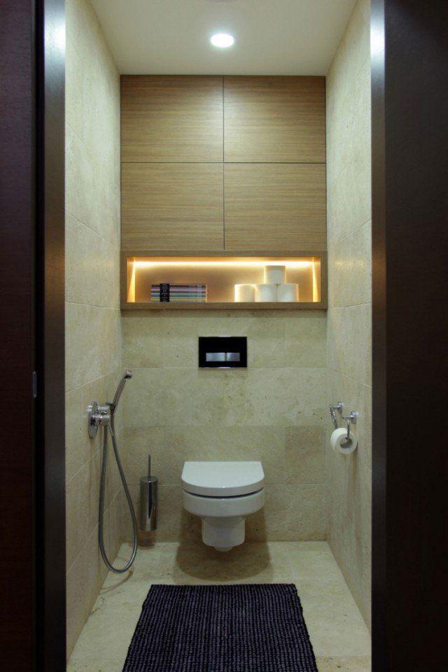 petite-salle-bains-agrandir-niche-led-aroire-murale-bois-tapis-douchette-manuelle