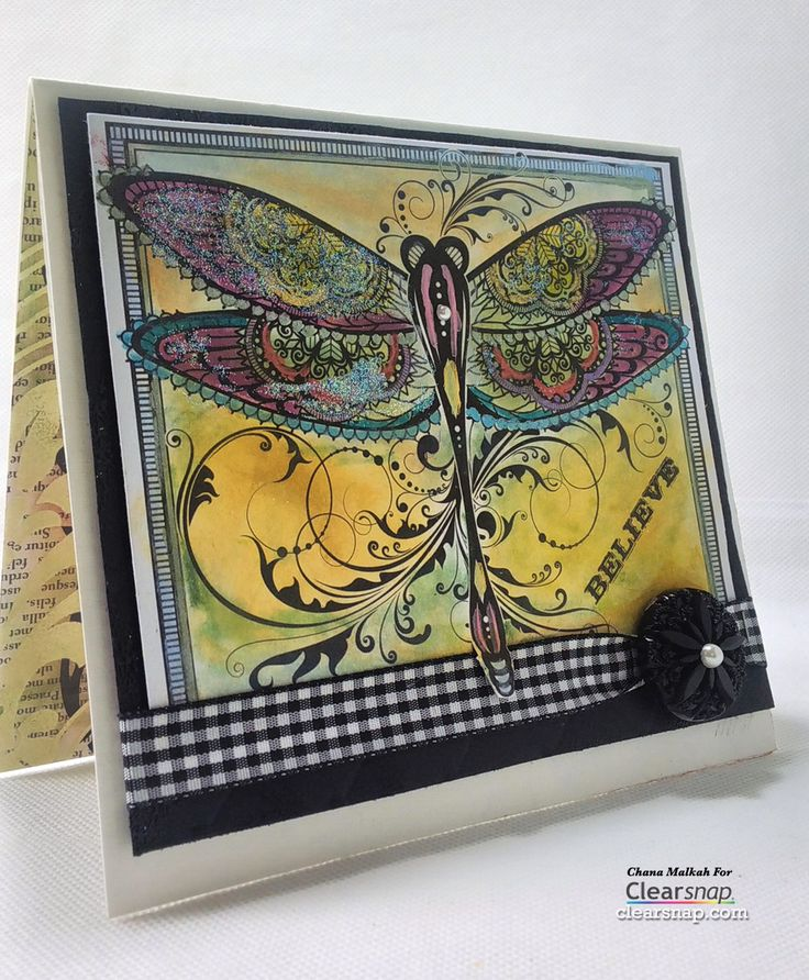 HOTP DragonflyColoringPage - coloring books using ink pads and cotton  swabs! Use what you have