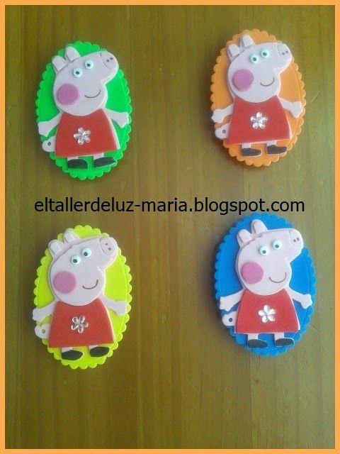 EL TALLER DE LUZ MARIA: IMANES PEPPA PIG GOMA EVA