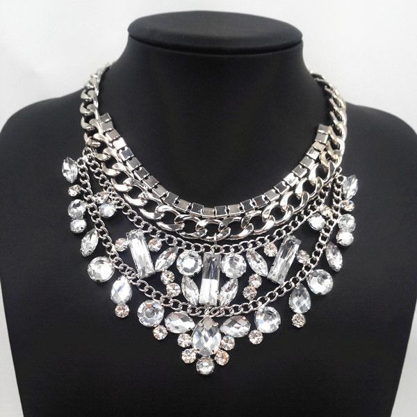 Aliexpress.com : Buy New design silver white crystal necklace ...