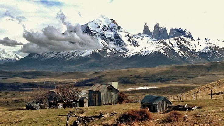 The estancia below Awasi Patagonia where guests go horseriding...