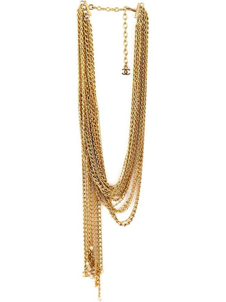CHANEL VINTAGE multi strand necklace