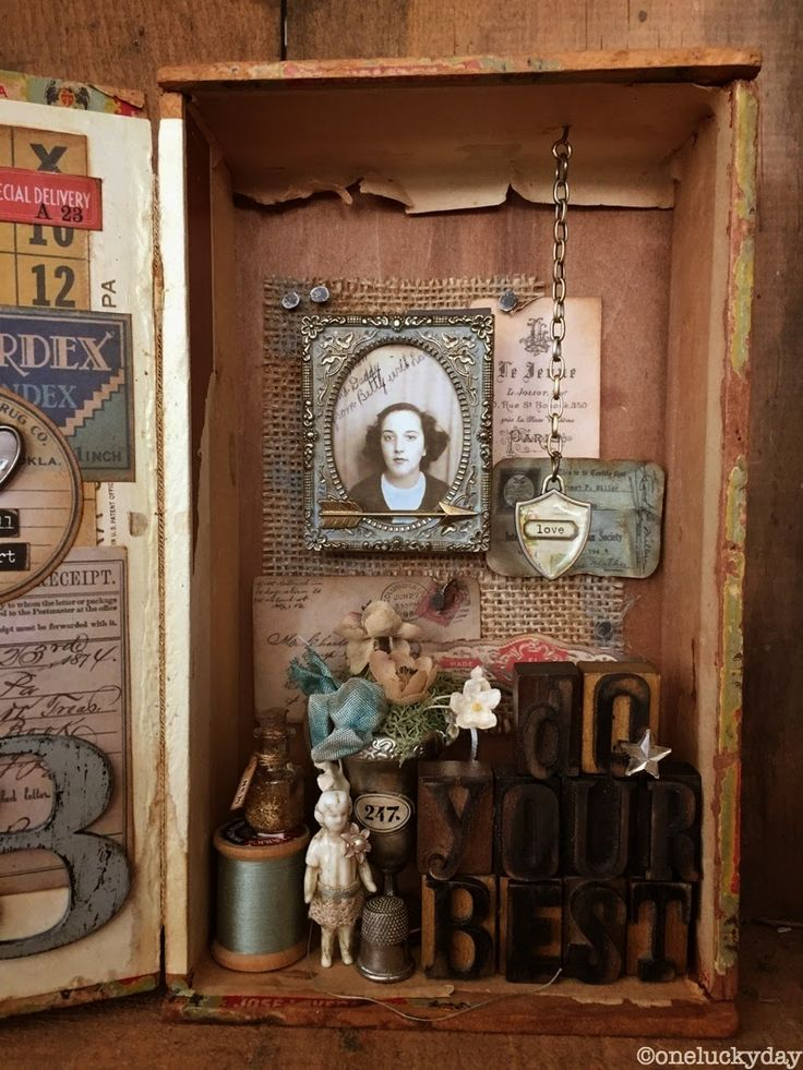 One Lucky Day: Do Your Best. Altered cigar box.
