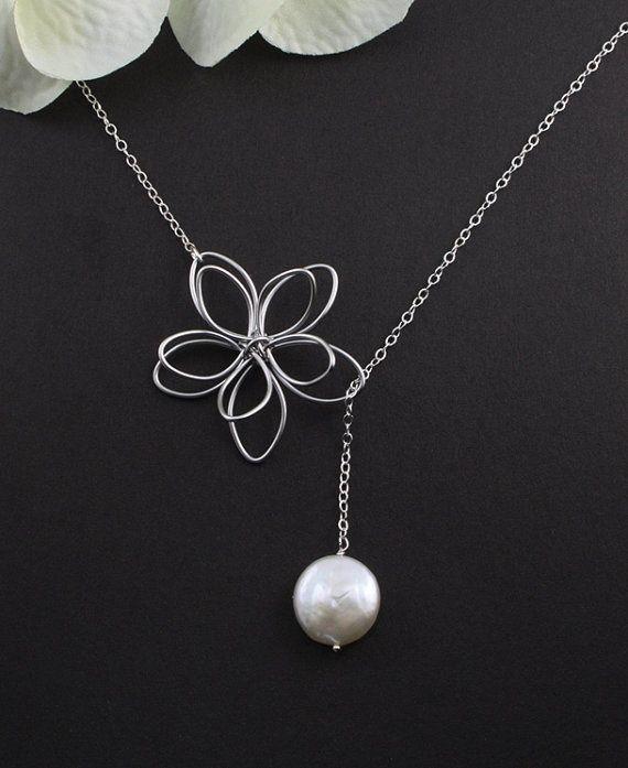 Sterling Silver Jewelry  Garden Moon Flower  by MenuetDesigns, $28.50