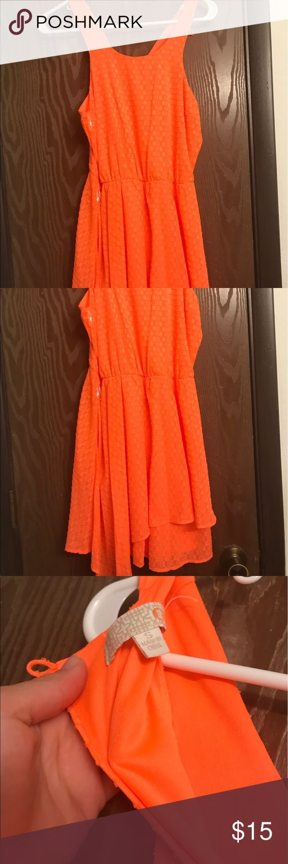 Bright orange dress (worn once) bright orange dress with round front neckline and vneck in back  - perfect for summer (worn once) Dresses Midi