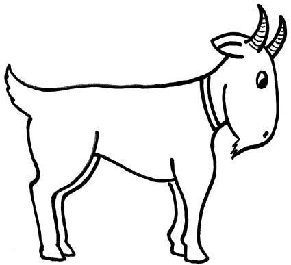 16 best rhyming words images on pinterest clipart black and white rh pinterest com Goat Silhouette Goat Face Clip Art