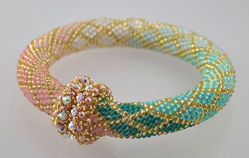 B151285 Diamonds Are Forever -- Bead Crochet Bracelet and Necklace