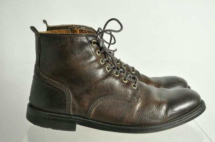 Clarks Cushion Brown Lace Up High Top Boots Size 11.5 #Clarks #AnkleBoots