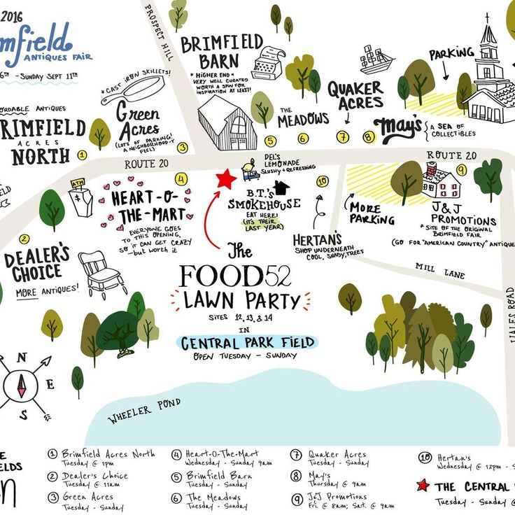 A Better Map of the Brimfield Flea (See You There!) on Food52