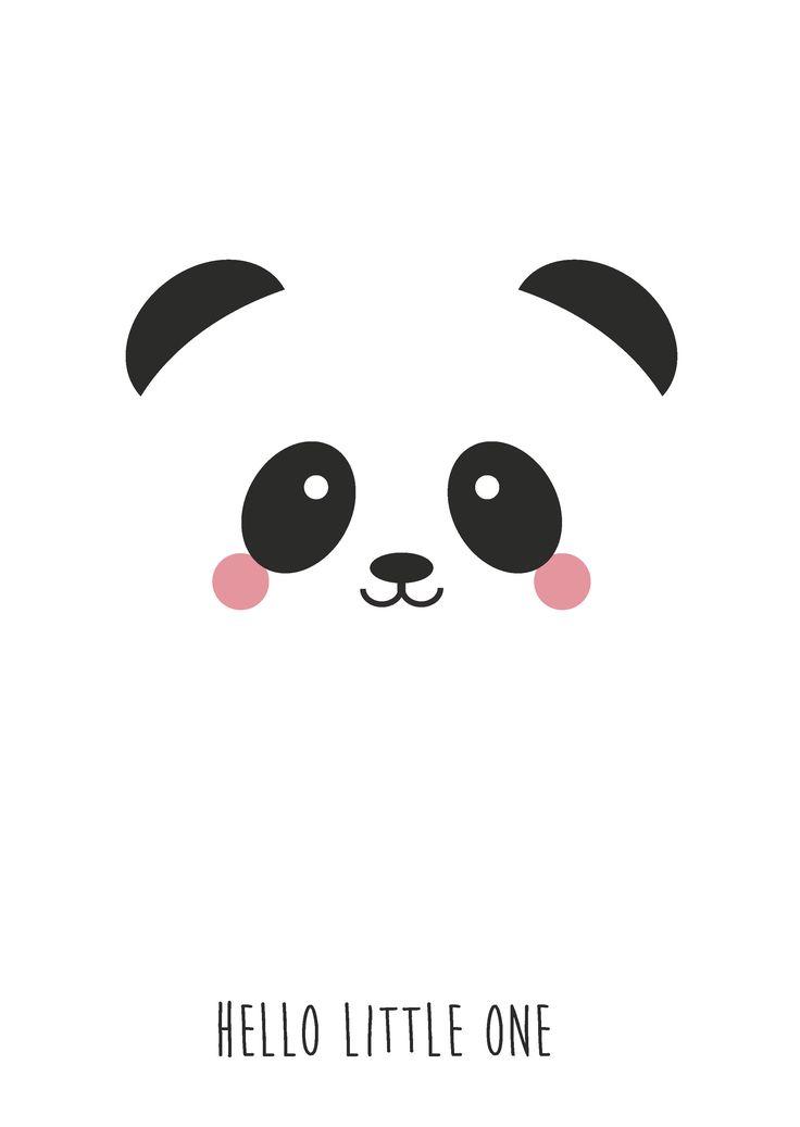 """Postkaart panda Postkaart panda met tekst """"Hello Little One"""". Dezekaart is geschiktvoor kinderen en iedereen die pas een baby heeft gekregen.  ..."""