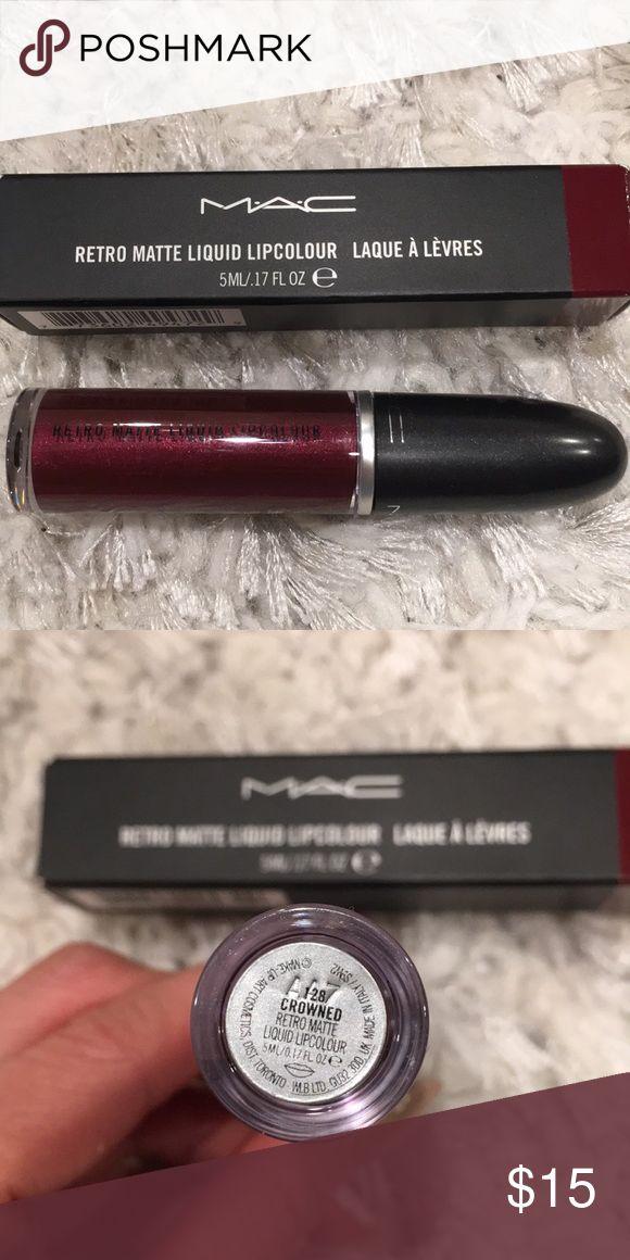 Metallic retro matte liquid lipstick Mac retro matte liquid lipstick provides long wearing power! Nice burgundy wine color! MAC Cosmetics Makeup Lipstick