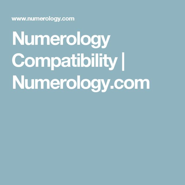 The  Best Numerology Compatibility Ideas On