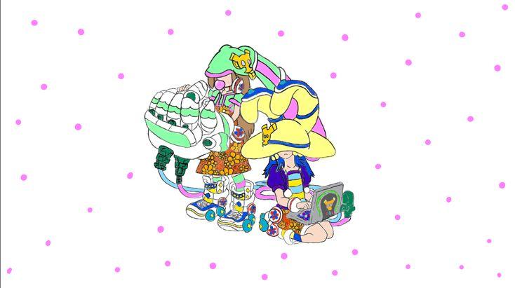 Summer version Monster Strike Dead Rabbits. Original fan art