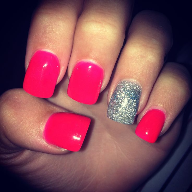 #solar #nails #pink #accentnail #pretty #pink #nail # ...