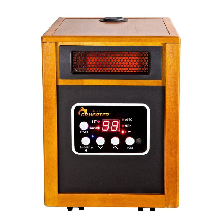 USA Dr. Infrared Heater DR-968H Portable Space Heater with Humidifier (DR-968H Portable Space Heater w/ Humidifier, 1500W), Brown