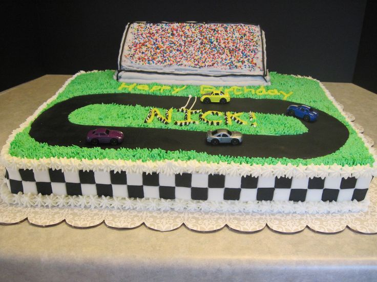 Cake Decorating Car Race Track : 21 best images about Birthday cake ideas on Pinterest ...