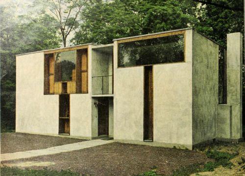 Margaret Esherick House (1961) by Louis Kahn. Chestnut Hill, Philadelphia. / From House & Garden, October 1962.