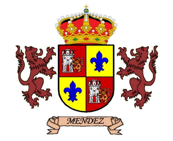Resultado de imagen para heraldica escudo apellido méndez