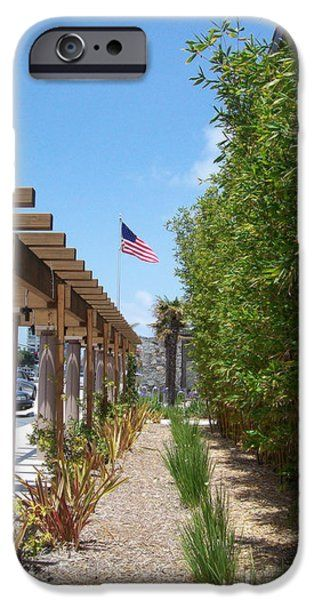 Coronado Community Center Arcade of No Shade iPhone Case by Sharon French