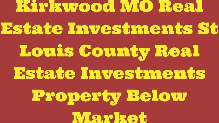 Kirkwood MO Real Estate Investments - St Louis County Real Estate Invest.....#wholesalerealestate #wholesalerealestateinvesting #realestateinvesting #flippinghouses #flippinghomes #stlouisrealestate #realestate