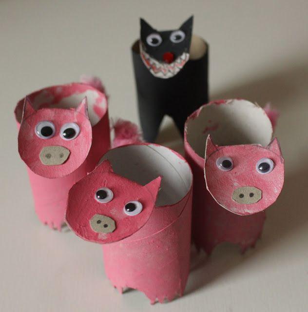 Mamma Gioca: I tre porcellini e il lupo... con i tubi di cartone!
