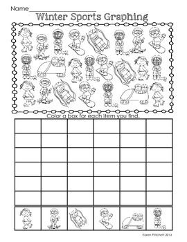 WINTER OLYMPICS MATH GRAPHING PRACTICE, ADD AND COLOR, AND EXTENDING PATTERNS - TeachersPayTeachers.com