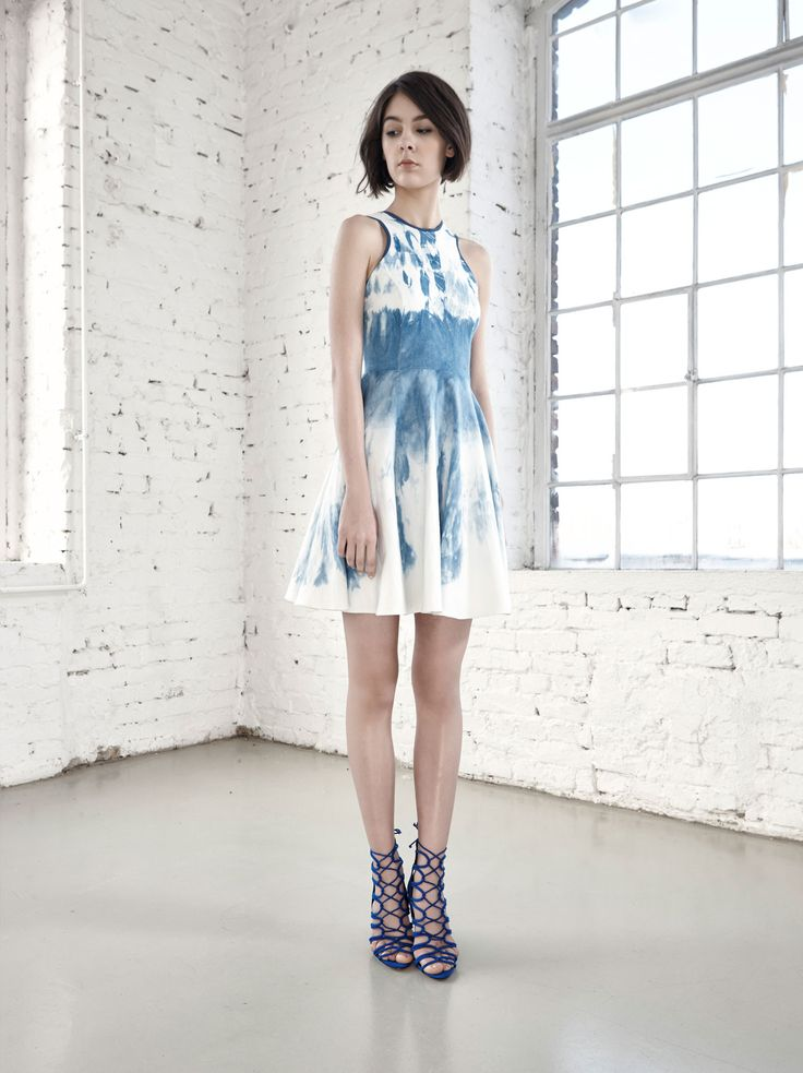 Hand Dyed Amphora Dress by Fibula - buy online at Designrs.co. The whole production process of these garments are handmade. Fibula dyed the pattern with a technique called shibori, an ancient form of hand-dyeing originating from Japan.