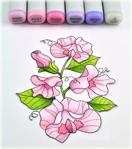 Stepped out coloring #2 from Debbie Olson (PTI's YOF Sweet Peas)