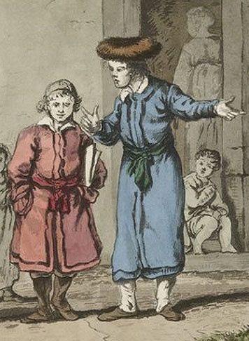 """""""Dzieci żydowskie"""" - Jan Piotr Norblin, XVIII wiek."""