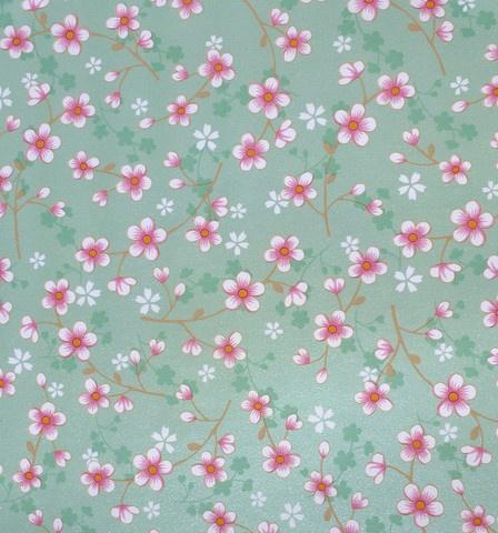 Pip Studio Cherry Blossom Green wallpaper - Pip Studios