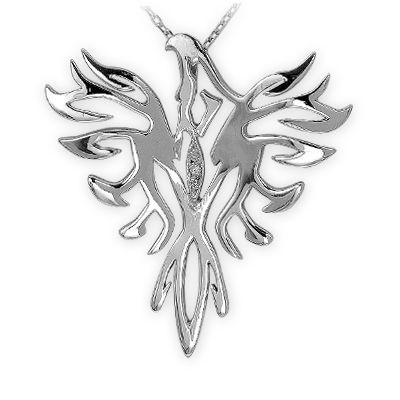 gümüş kolye, kuş kolye, sembol kolye, doğa, pırlanta, elmas