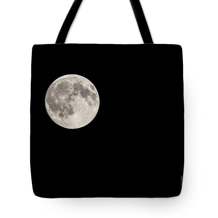 The Moon On Black Night Sky Tote Bag